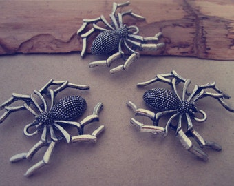 10pcs Antique silver spider charm pendant  28mmx35mm