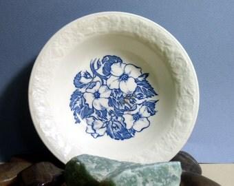 Vintage Wild Rose Bowl, Blue Flowers, Dogwood Flowers, Antique, Cereal Bowl, Dish, Soup Bowl
