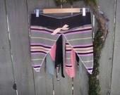 Tattered Funky Pixie Skirt/ Upcycled Eco Fairy Belt Mini Skirt Festival Wear Lagenlook