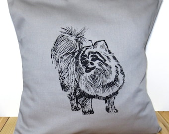 Pomeranian Dog Pillow Cover for 16''x16'' Cushion Screen Printed Puppy