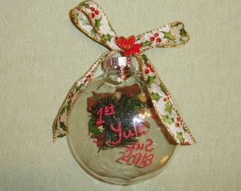 Custom Herbal Yule Ornaments - 1 pc