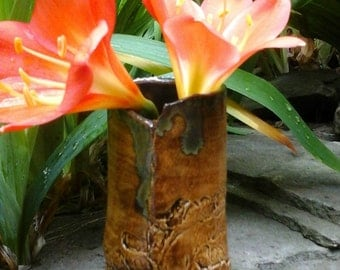 Branched Clay Bud Vase