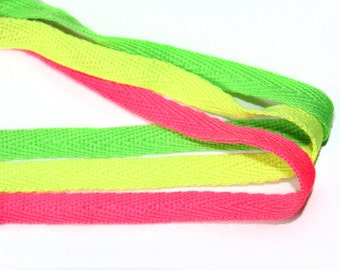 3 YARDS Neon Trim Rope Ribbon  for Crafts, Sewing , Accessories
