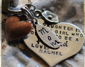 Personalized Keychain for mom, Gift for mom, Necklace, Mother/Daughter gift, Mothers Day gift, Gift from daughter, personalized jewelry