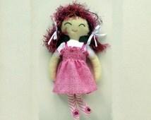 PDF Doll Pattern Rag Doll Cloth Sewing Pattern for Cloth Doll (Abbie)Digital Download ragdoll pdf rag doll soft doll pattern, primitive doll
