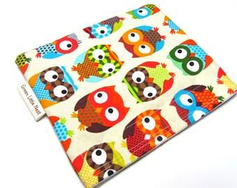 Reusable Snack Bag, Snack Bag, Timeless Treasures Owls Snack Bag, Back To School Lunch Bag
