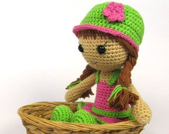 Doll Maria- Amigurumi Crochet Pattern / PDF e-Book / Stuffed Animal Tutorial