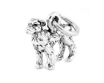 Sterling Silver Labrador Retriever Dog Charm (3d Charm)