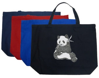 Large Tote Bag - Created using a list of 37 popular animals on the endangered species list