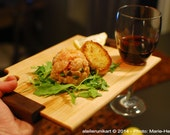 Thin plank for cocktail snacks - wine and cheese tasting - Customizable