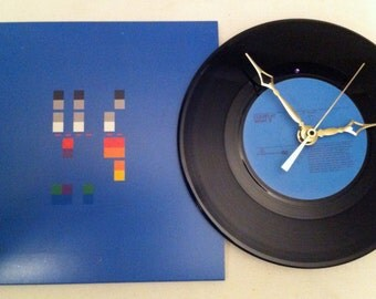 "Recycled COLDPLAY 7"" Record with Picture Sleeve / What If / Record Clock"