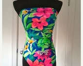 50% OFF Vintage Floral  One Piece Bathing Suit- Size xsmall-small