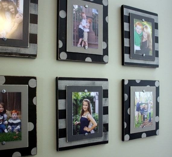 Set Of Six Wood Plank Frames Set Of 5x7 Frames