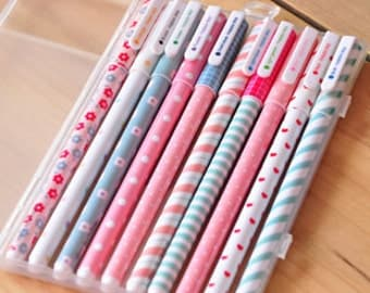 Scrapbook Pen 0.38 mm Country Floral Pattern 10 Color