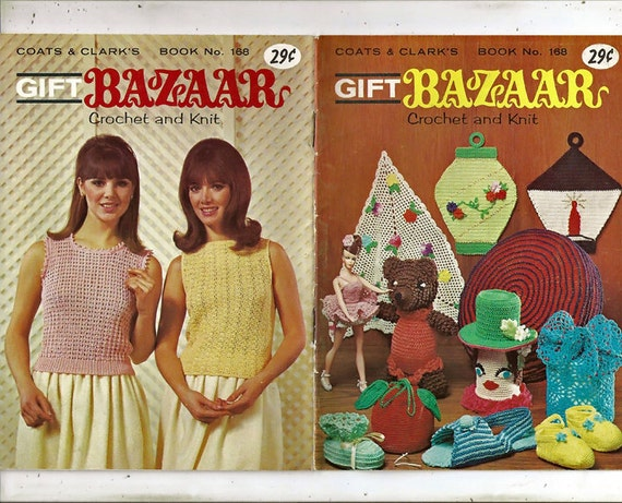 Gift Bazaar To Knit And Crochet Pattern Book Coats Amp Clark