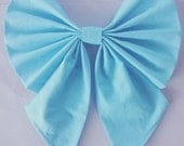Large Blue Hair Bow - Kiss The Girl Bow - Halloween Costume - Cosplay