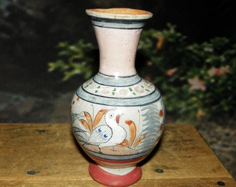 Small Tonala Mexico Pottery Bud Vase c1940's-1950's