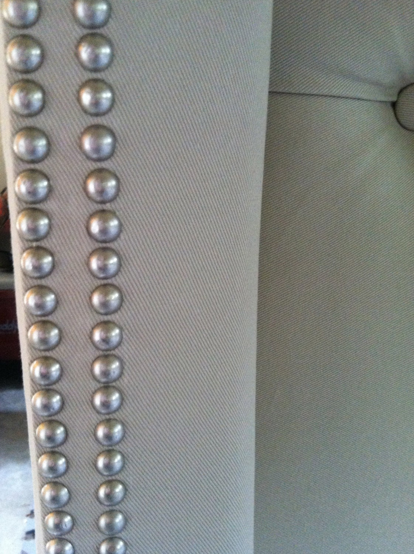 Diamond Tufted Twill Wingback Headboard King By