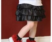 Extra full ruffle on black socks - many colors available