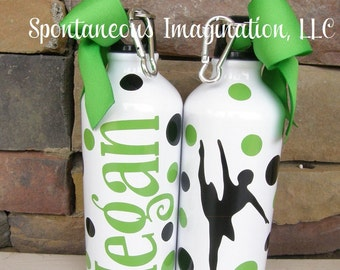 Personalized Aluminum Ballet Water Bottle- Ballerina Gift Idea