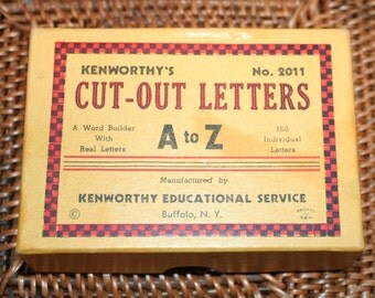 Vintage Die Cut Letters, Simple Manilla Letters from A-Z, Kenworthy Educational Service