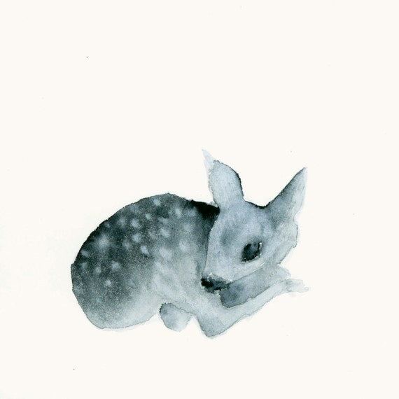 Fawn Art Tiny Resting Ghost Fawn
