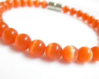 Orange Cats Eye Bracelet