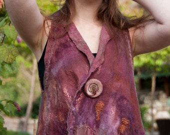 Colors of Fall Baby Doll nuno felt vest
