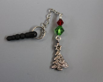 Christmas Tree Cell Phone Charm