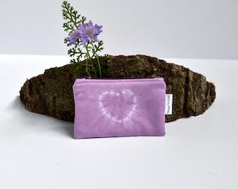 Coin Purse, Zipper Pouch, Heart, Shibori, Radiant Orchid Coin Purse, Valentines Day