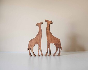 Wooden Giraffe- Nursery Decor