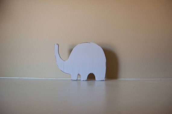 Elephant Nursery Decor, Wood Elephant, Elephant Figurine