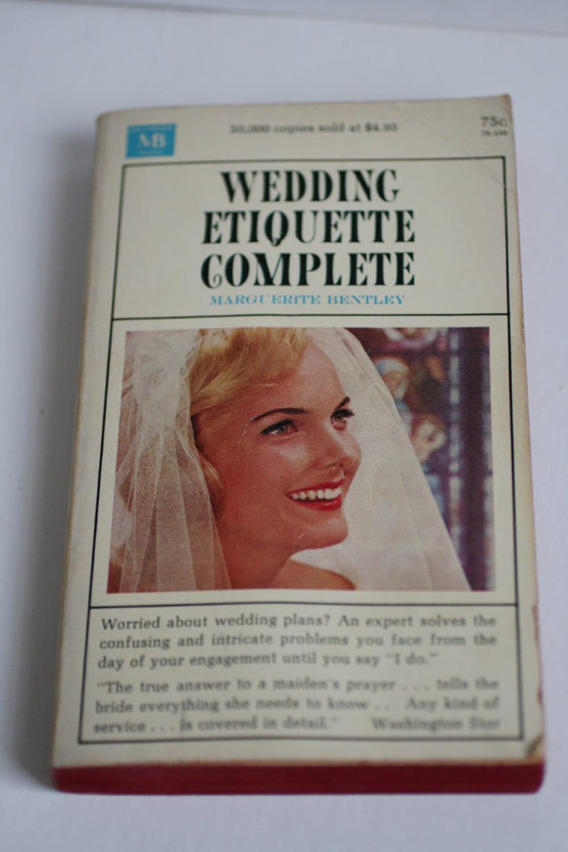 VINTAGE Wedding Etiquette Book Wedding Book 1964 Wedding