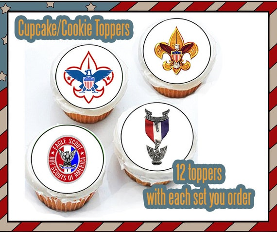 Eagle Scout Court of Honor Boy scout Edible cookie toppers