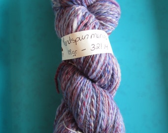 Hand spun merino yarn - blues, purples, pinks - sport weight/ dk