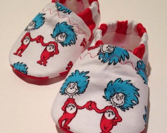 Dr suess thing 1 and thing 2 booties (1 pair)