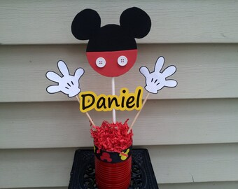 Mickey mouse centerpiece party decoration