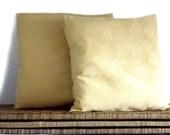 Damask pillow, yellow pillow, decorative pillows
