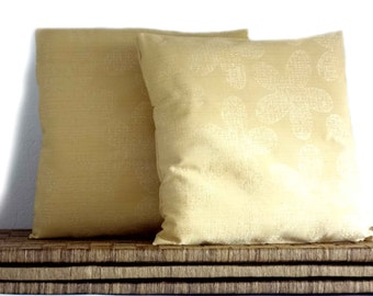 Damask pillow, yellow pillow, decorative pillows