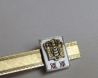 10K New Jersey State Seal Tie Bar 10K and gold filled