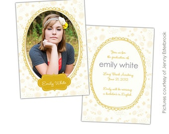 Graduation announcement - PSD Templates - E399