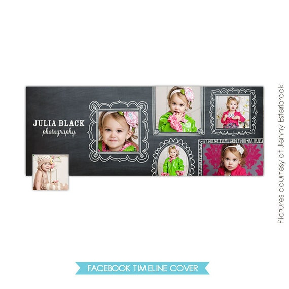 INSTANT DOWNLOAD - Facebook custom timeline cover - Photoshop template - E345-4