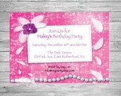 Custom Printed Fashionista Birthday Invite.  Great for Any Age. Matching Thank You Cards Available.