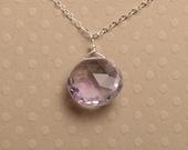 February Birthstone Necklace, Lavender Amethyst Necklace, Amethyst Gemstone Necklace, Healing Gemstone Jewelry, Gemstone Silver Chain
