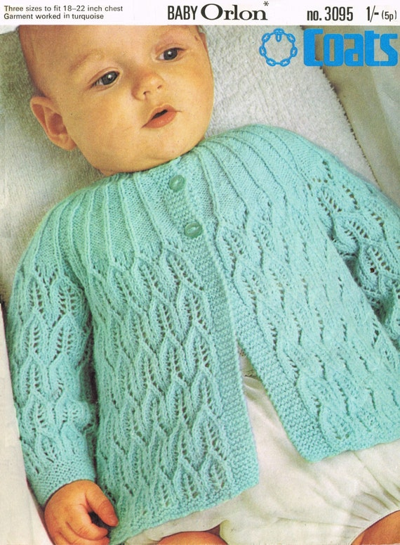 Baby Matinee Jacket in 4 ply for sizes 18 22 ins Coats
