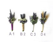 "Organic Dried Lavender Boutonniere - Goomsman - Gooms Bestman "" Your Choice""  One Each."