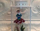 White Lantern Terrarium Garden Gnome Amanita Mushroom Lantern Terrarium  Gift For Her Gift For Woman Christmas Birthday gift Home Decor