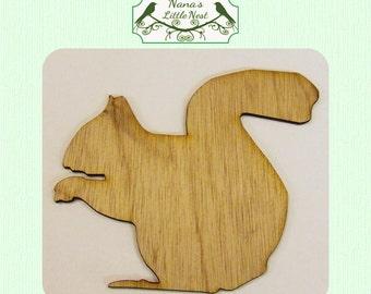 Squirrel  (Large ) Wood Cut Out -  Laser Cut