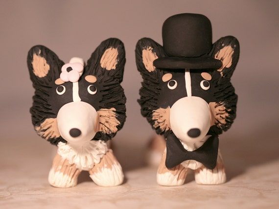 Corgi Dog Wedding Cake Topper