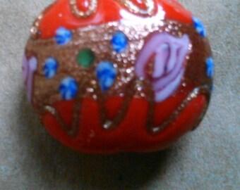 Antique Venetian Wedding Cake Glass Bead